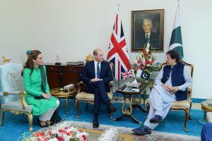 The Duke and Duchess of Cambridge meet PM Imran Khan