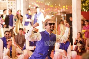 A great performance by the groom, Hamza Kardar's friends.