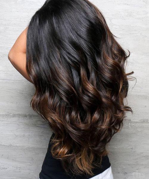 Chocolate Babayage Hair colors