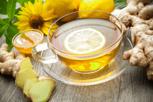 Ginger and lemon tea to help reduce the effects of bad air quality