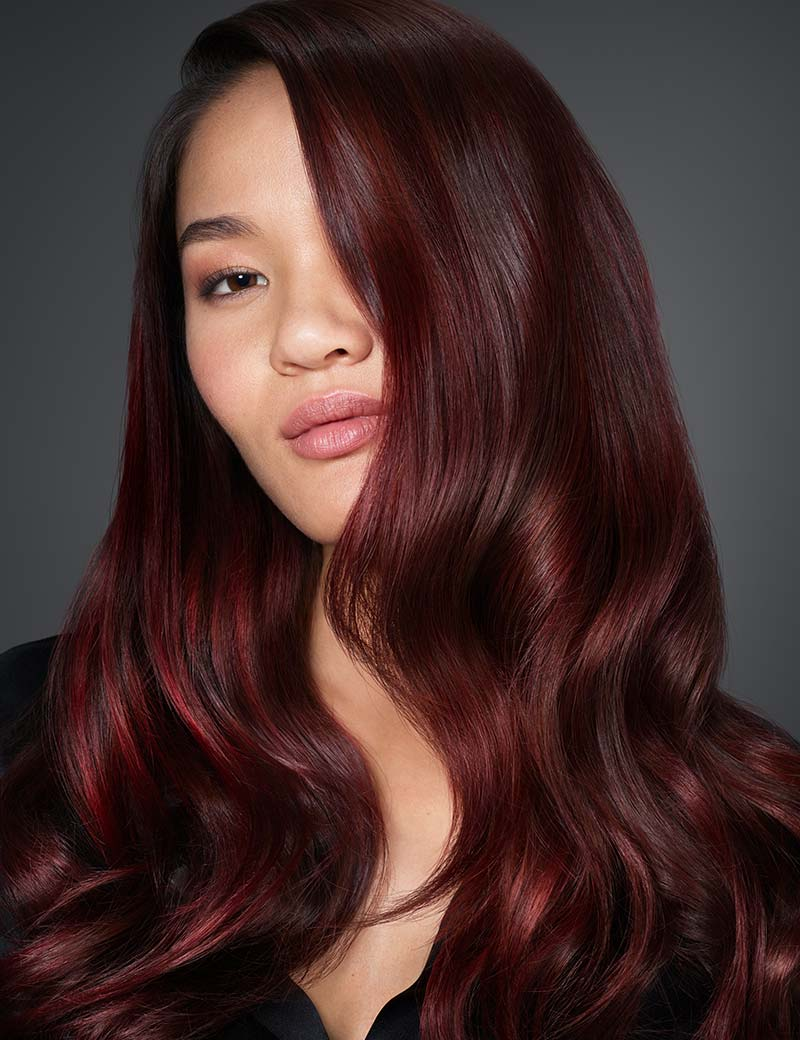 Wine-red Hair colors