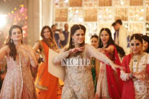 The bride's squad in action! Zainab Abbas's friends at her shendi