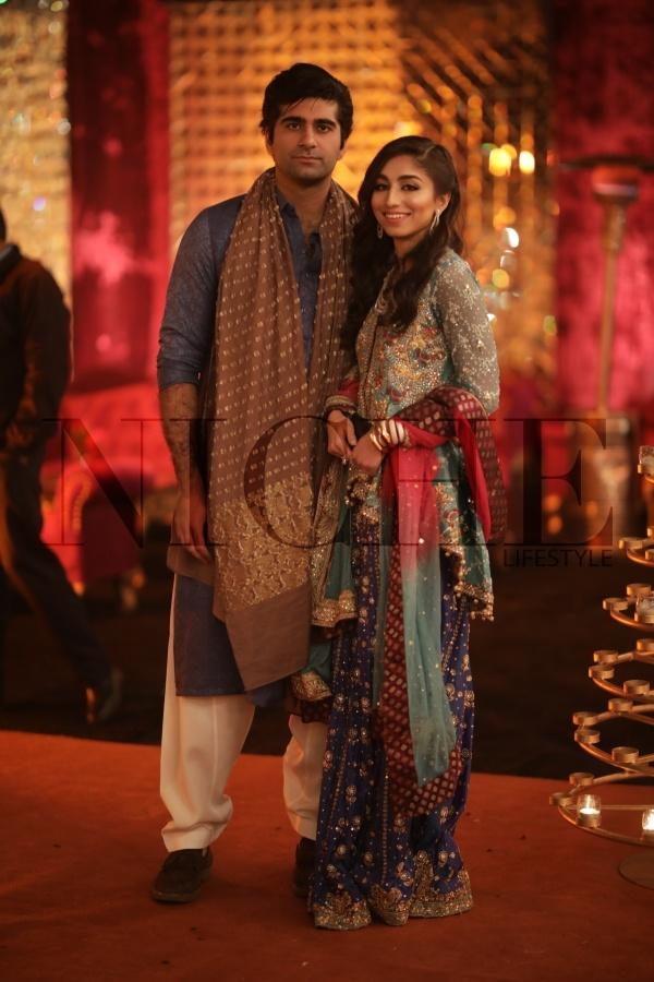 Asad Kamal and Aniqa at Shahrose and Adham's wedding