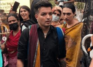 The Khwaja sira (transgender) community holds a protest in Karachi